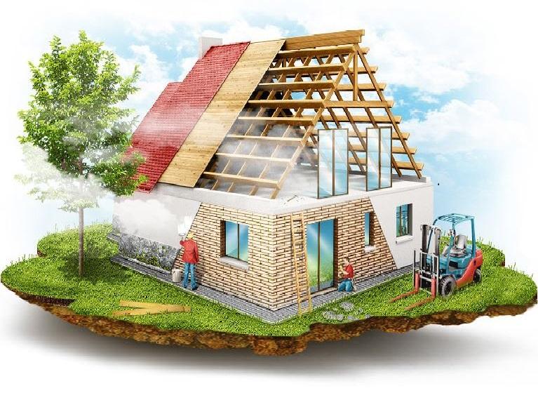 Двухэтажный дачный дом 4х4 м